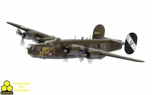 Corgi AA34018  B-24® Liberator® 'Male Call' 453rd BG, US Eighth Air Force, 1944 - Jimmy Stewart