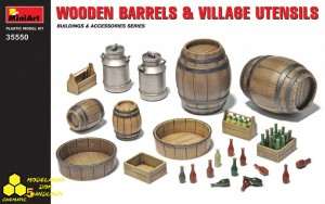MiniArt 35550 Wooden Barrels and Village Utensils