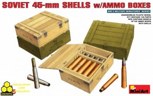 MiniArt 35073 Soviet 45-mm Shells w/Ammo Boxes