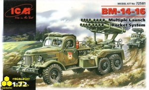 Icm 72581 BM-14-16 Multiple Launch Rocket System