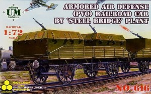 Military UM technics 616 Armored air defense railroad car