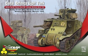 Mirage 729001 M3 'General Grant' - 'Canal Defence Light' Medium Tank , late version, Germany, Rheinland, March 1945