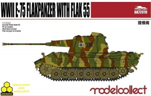 Modelcollect UA72019 Germany WWII E-75 Flakpanzer with FLAK 55