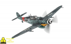 Corgi AA27108  Messerschmitt Bf 109G-6/U2 'White 16', 1./JG301, July 1944
