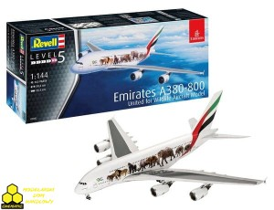 REVELL 03882 Airbus A380-800 Emirates 'Wild Life'