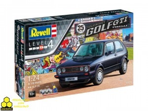 Revell 05694  Revell 05694 35 Years of the VW Golf GTi Pirelli (ZESTAW Z FARBAMI)