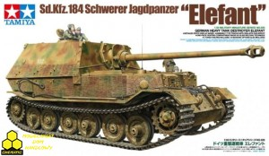 "Tamiya 35325 Sd.Kfz.184 Schwerer Jagdpanzer ""Elefant"" German Heavy Tank Destroyer Elefant"