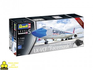 "REVELL 03836 Boeing 747-8F CARGOLUX LX-VCF ""Facemask"""