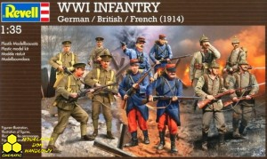 Revell 02451 WWI Infantry German / British / French (1914)