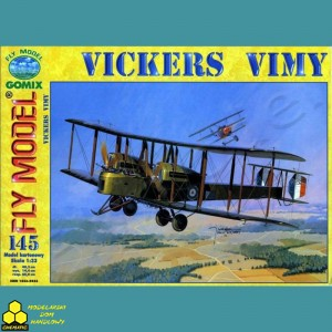 Model Kartonowy Fly Model Nr 145 Vickers Vimy