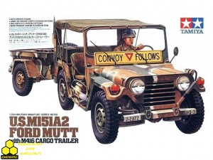 Tamiya 35130 U.S. M151A2 Ford MUTT with M416 Cargo Trailer