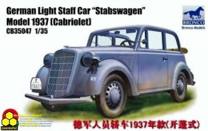 Bronco CB35047 German Light Staff Car Stabswagen Model 1937 (Cabriolet)