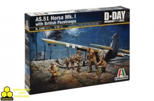 Italeri 1356 AS.51 Horsa Mk.I with British Paratroops