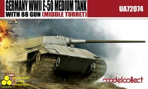 Modelcollect UA72074 Germany WWII E-50 Medium Tank with 88 gun (large turret)