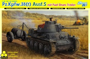 Dragon 6435 Pz.Kpfw.38(t) Ausf.S mit Fuel Drum Trailer