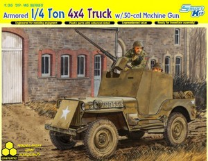 Dragon 6714 Armored 1/4 Ton 4x4 Truck w/.50-cal Machine Gun